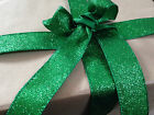 IT'S BEGINNING TO GLITTER GREEN like Christmas -  Luxury Wire Edged Ribbon