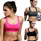 Women Fitness Stretch Sport Bra Padded Running Gym Yoga Workout Tank Tops