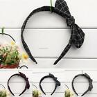 Women Teens Adult Girls Retro Plaid Hair Bands Headdress Hair accessories AU