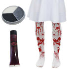 CHILDS BLOODY STAINED TIGHTS AND ACCESSORIES GIRLS HALLOWEEN FANCY DRESS SET