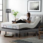 LUCID Adjustable Bed Base with Motorized Head/Foot Incline and Remote Control