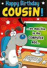 funny / humorous male COUSIN happy birthday card - 2 x cards to choose from!