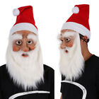 Adult Santa Claus Halloween Rubber Face Mask Masquerade Fancy Costume Full Mask