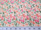 Discount Fabric Cotton Apparel Peach, Pink and Green Floral 405K