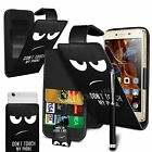 For Lenovo Vibe S1 Lite - Printed Clip On PU Leather Flip Case Cover & Pen