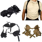 Tactical Left Right Hand Guns Pistol Double Shoulder Holster Bag Airsoft Hunting