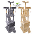 "73"" Deluxe Cat Tree Tower Condo Furniture Scratch Post Pet Kitty Playhouse"