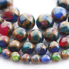 1 Strand 15'' Composited Colorful Natural Agate Stone Gemstone Beads 6 8 10 12mm