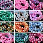 6mm 8mm Bicone Faceted Glass Loose Spacer Colorized Beads Jewelry Findings
