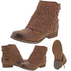 Not Rated By Naughty Monkey Crumbly Women's Ankle Wrap Booties Boots