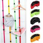 8 Hooks Adjustable Over Door Straps Hanger Hat Bag Clothes Coat Rack Organizer