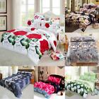 Duvet Quilt Cover Bedding Set Queen King Size With 2Pillow Cases Christmas Gifts
