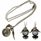Harry Potter Quidditch Wings Golden Snitch Pendant Necklace Gold & Silver Hot