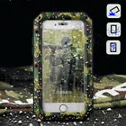 Premium Camo Metal Skin Shockproof Rugged Case Cover + Tempered Glass For iPhone