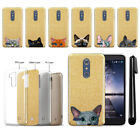 For ZTE Kirk Z988 / Z962G Cat Design Slim Sparkling Gold TPU Case Cover + Pen