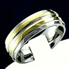 Wedding Band Stainless Steel Mens Engagement Ring Anniversary