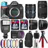 Canon EOS 5DS DSLR + 24-105mm 4L IS II + 75-300mm III + Slave Flash - 48GB Kit