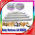 New Baby Travel Mattress Spring Foam For Cot Cotbed Swinging Crib Moses Basket