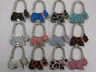 CHOICE OF STUNNING DOG SHAPED PRETTY HANDBAG TABLE HOOK HOLDER 2 IN 1 ACCESSORY