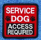 """Assistance Service Dog Access Required Patch 2.5X2.5"""" Support Medical Disabled"""