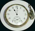 ELGIN 15 JEWEL WORKING POCKET WATCH WITH CHAIN