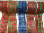 ELEGANZA 'TARTAN' wire edged ribbon Scotland - available in 7 designs 6 lengths