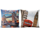 "Quirky London Theme Cushion Cover - Quality Photo Print - 17"" X 17"""