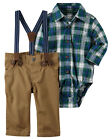 Carters 3 6 9 12 18 24 Months Green Shirt Bodysuit & Pants Set Baby Boy Clothes