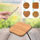 Bamboo Qi Wireless Charger Desktop Charging Pad For iPhone 8/10 Samsung S6 S7 S8