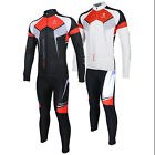 Men Windproof Thermal Fleece Winter Cycling Jersey Bicycle Bike Jacket Pant Suit