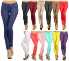 Women's Classic Solid Cotton Blend Jeggings Soft Skinny Stretch Pants