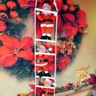 Creative Xmas Santa Claus Climbing On Rope Ladder Tree Hanging House Decor Gift