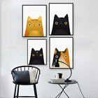 Cartoon Cat Canvas Wall Painting Poster Craft Kids Room Art Home Decor Fashion