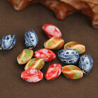 NEW 5pcs 10X16mm Twist Ceramic Charms Loose Spacer Beads DIY Jewelry Findings