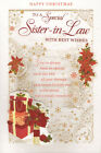 """traditional to a special SISTER-IN-LAW Christmas attachment card large 9"""" x 6"""""""