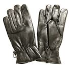 MENS SOFT REAL LEATHER WINTER DRIVING INSULATE LINED STRETCHABLE GLOVES - K2Z