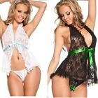 2 Colors Sexy Lace Black White Lingerie Sleepwear Babydoll Size S M L