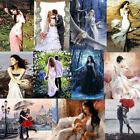 Couple Women DIY Paint By Number Kit Digital Oil Painting Linen No framed Decor