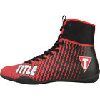 Внешний вид - Title Boxing Predator II Lightweight Mid-Length Boxing Shoes - Red/Black