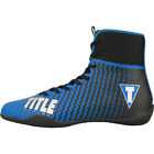 Внешний вид - Title Boxing Predator II Lightweight Mid-Length Boxing Shoes - Blue/Black