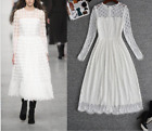 New Occident popular long sleeve ling grace graceful fashion lace Cocktail dress