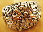 Gorgeous Bali Unique Carving Dragonfly Sterling Silver 925 Ring M105 18K Gold
