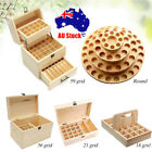 18~59Slot Aromatherapy Essential Oil Storage Box Wooden Case Container Holder AU