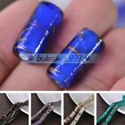 5pcs 20X10mm Big Cylindrical Lampwork Glass Loose Spacer Beads DIY Findings