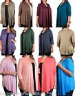 3/4 Sleeve Shrug Open Front Cardigan/Cover-Up Plus Top Solid Color * 15 Colors *