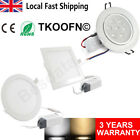 1/12X 3W 6W 7W 24W LED Recessed Ceiling Downlights Spot Light Bathroom Lighting