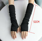 Women Winter Wrist Arm Hand Warmer Knitted Long Fingerless Gloves Mitten US