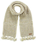 Barts Scarf Neck Warmer Winter Scarf Beige Solace Chunky Knitted Fringes