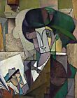 Man with Fountain Pen by D. Rivera. Abstract Repro Highest Quality U.S.A. Prints