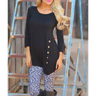 US Womens Casual Loose Irregular Blouse Ladies Winter Spring Cotton Tops Tshirt <br/> *US Fast Shipping*High Quality*Good Condition*